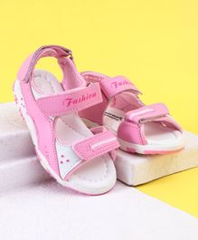 Cute Walk by Babyhug Sandals With Velcro Closure Fashion Print - Light Pink