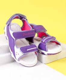 Cute Walk by Babyhug Sandals With Velcro Closure Fashion Print - Purple