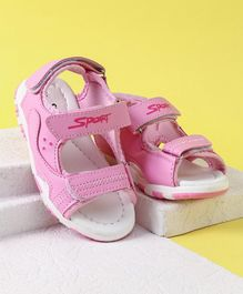 Cute Walk by Babyhug Sports Sandals With Velcro Closure - Light Pink