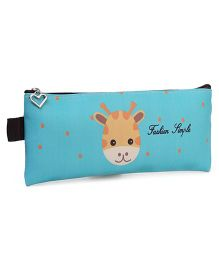 Rectangle Pencil Pouch Camel Print - Blue