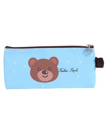 Pencil Pouch Bear Print - Sky Blue