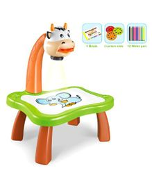 Curtis Toys Projector Desk for Learning & Drawing - Brown & Green