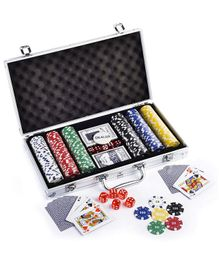 Webby Poker Chip Denomination Toy Set With Aluminum Case Multicolour - 300 pieces