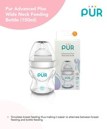 Pur Advanced Plus Wide Neck Transparent Bottle - 150 ml