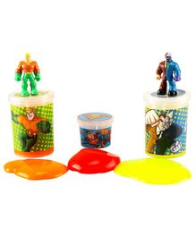 DC Comics Slime Jars Pack Of 3 - Red Yellow & Orange