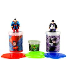 DC Comics Slime Jars Pack Of 3 - Red Blue & Green