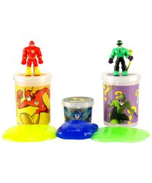 DC Comics Slime Jars Pack Of 3 - Yellow Green & Blue