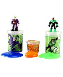 DC Comics Slime Jars Pack Of 3 - Orange Green & Blue