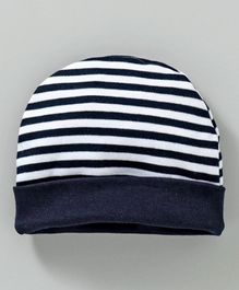 Babyhug Cotton Cap Stripes Pattern - White Blue 160548358f1