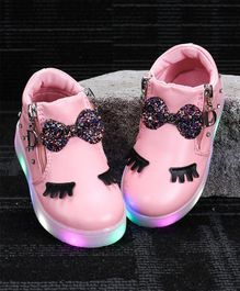 Kidlingss Bow Applique Shoes - Pink