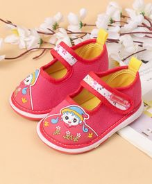 Cute Walk by Babyhug Casual Shoes Velcro Closure - Red