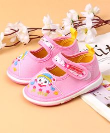 Cute Walk by Babyhug Casual Shoes Velcro Closure - Light Pink