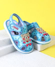 Cute Walk by Babyhug Sandals Teddy Patch - Sky Blue