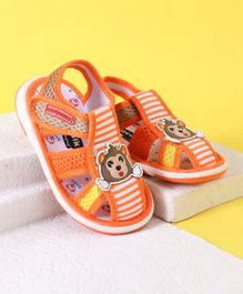 Cute Walk by Babyhug Sandal Monkey Patch - Orange