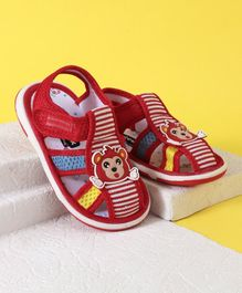 Cute Walk by Babyhug Sandal Monkey Patch - Red