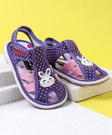 Cute Walk by Babyhug Sandals Bunny Patch - Purple