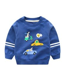 71fa25a9728c Pre Order - Awabox Scooter   Car Patch Full Sleeves Sweatshirt - Blue