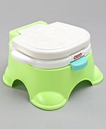 Potty Chair With Lid - Green White