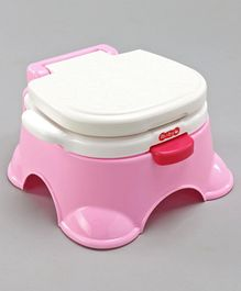 Potty Chair With Lid - Pink White