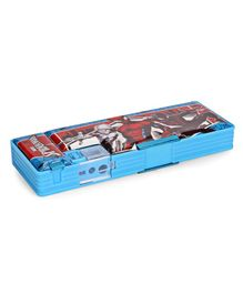 Marvel Spider Man Dual Compartment Pencil Box - Blue & Red