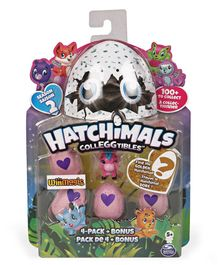 Hatchimals Collectables Pack of 4 - Blue and Purple