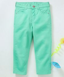 Babyhug Full Length Solid Trouser - Mint Green