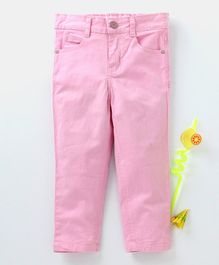 Babyhug Full Length Solid Trouser - Light Pink