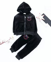 Kookie Kids Hooded Sweat Jacket & Lounge Pant - Black