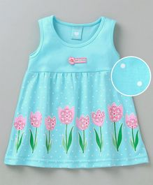Baby Naturelle & Me Sleeveless Frock Floral Print - Blue
