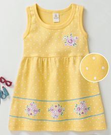 Baby Naturelle & Me Sleeveless Frock Floral Print - Yellow