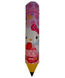Funcart Pencil Shaped Zipper Case Hello Kitty Print - Pink