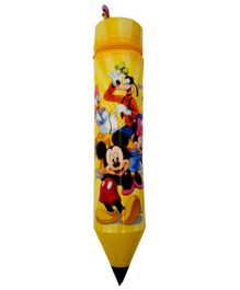 Funcart Pencil Shaped Zipper Case Mickey & Friends Print - Yellow