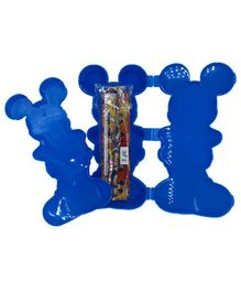 Funcart Mickey Mouse Shaped Pencil Box With Stationery - Blue