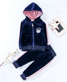 Kookie Kids Hooded Sweat Jacket & Lounge Pant - Navy Blue