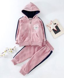 Kookie Kids Hooded Sweat Jacket & Lounge Pant - Light Pink