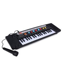Dr. Toy Electronic Keyboard With Microphone - Black