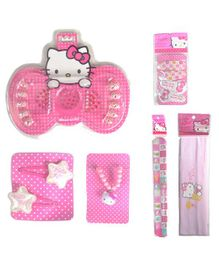 Hello Kitty Hair Accessory Combo Set Pack of 6 - Pink White