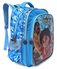 Shiva School Bag Sky Blue - Height 16.1 inches