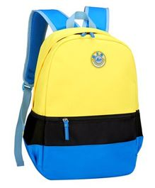 Vismintrend School Bag Blue Yellow - Height 18 inches