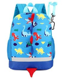 Vismintrend School Bag Dinosaur Print Blue - Height 12 inches