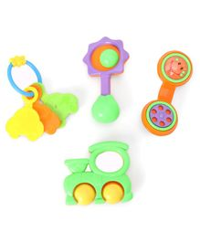 Dr. Toy Baby Rattle Set Multicolour - Pack of 4