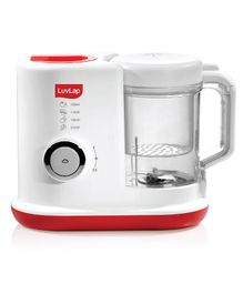 LuvLap Royal Steamer Blender White Red - 230 ml