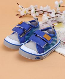 Cute Walk by Babyhug Canvas Shoes Vehicle Design - Grey Blue