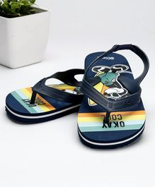 f9b822ba50f89 Fox Baby Flip Flops With Backstrap Mickey Mouse Print - Navy Blue