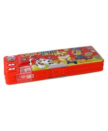 Paw Patrol Double Sided Pencil Box - Red