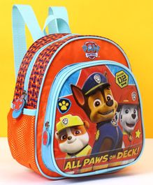 Paw Patrol School Bag All Pups On Deck Print - Orange