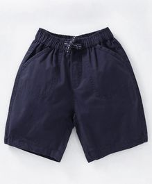 Cucumber Solid Color Shorts - Dark Blue