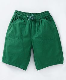Cucumber Solid Color Shorts - Green
