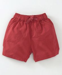 Cucumber Solid Colour Shorts - Maroon