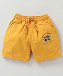 Cucumber Solid Colour Shorts - Yellow